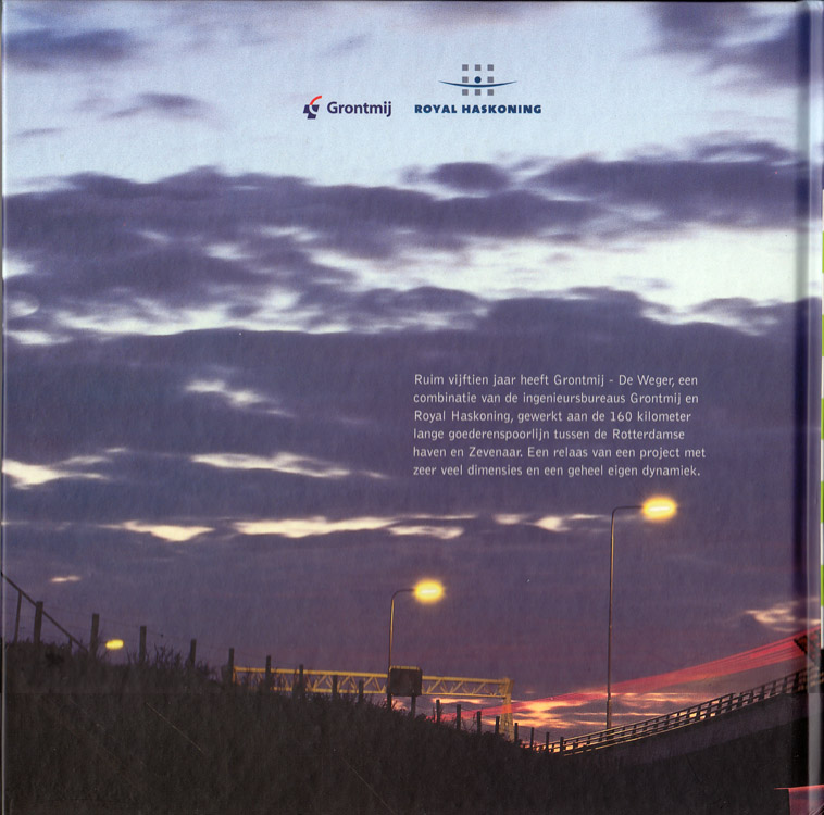 Achterkant van het boek De Betuweroute