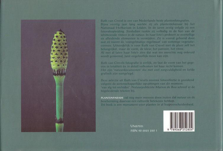 Achterkant van het boek Plantenparade